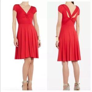 BCBG Maxazria Red Ritz Stretchy Fit N Flare Dress